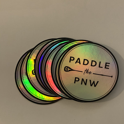 Paddle the PNW holographic sticker