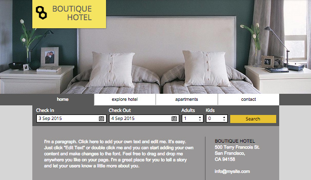Hotel e B&B template – Piccolo Hotel