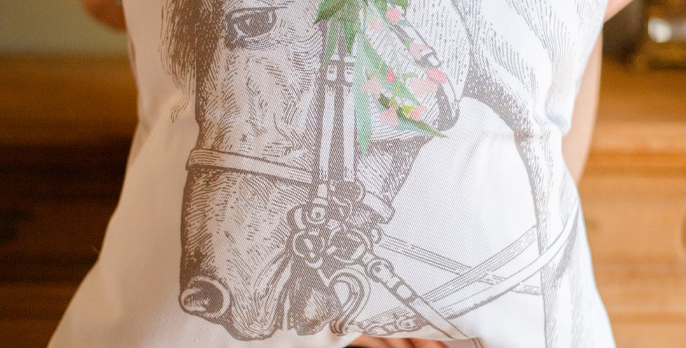Farmhouse Floral Horse 3