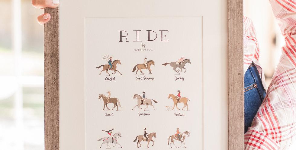 Ride Horses Art Print