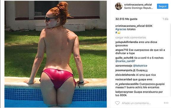 Cristina Castaño. 600000 seguidores. topless. Revista lux moments magazine