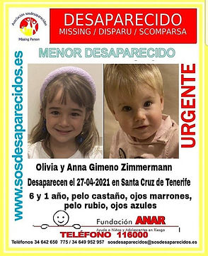 interpol-ninas-espanolas-desaparecidas-tenerife-anna-olivia-gimeno-zimermann-missing-disparu-scomparsa