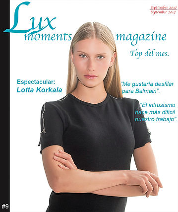 Marina garcia Calderin. Model. Revista Lux Moments magazine