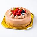 チョコ生クリームデコレーション Chocolate decoration cake 12cm