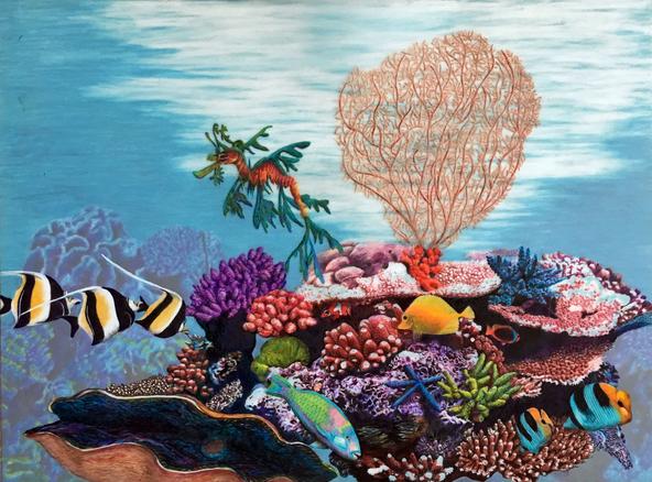 Sea Dragon on a Coral Reef