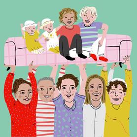 Arno en zijn gezin uit aflevering 1