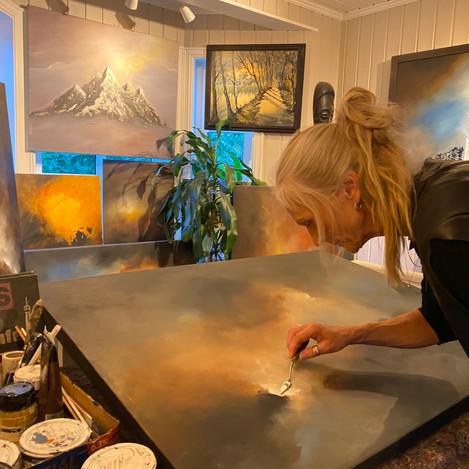 In my art studio