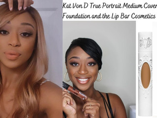 Vegan makeup products review, KVD Beauty and The Lip Bar cosmetics