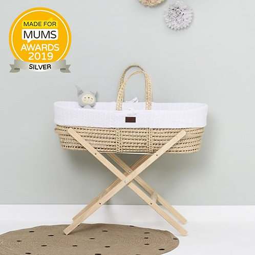 LGS Natural Knitted Moses Basket
