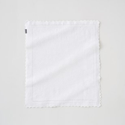 Silver Cross Hello Little One White Knitted Blanket