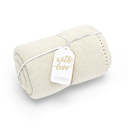 LGS Organic Knitted Baby Blanket