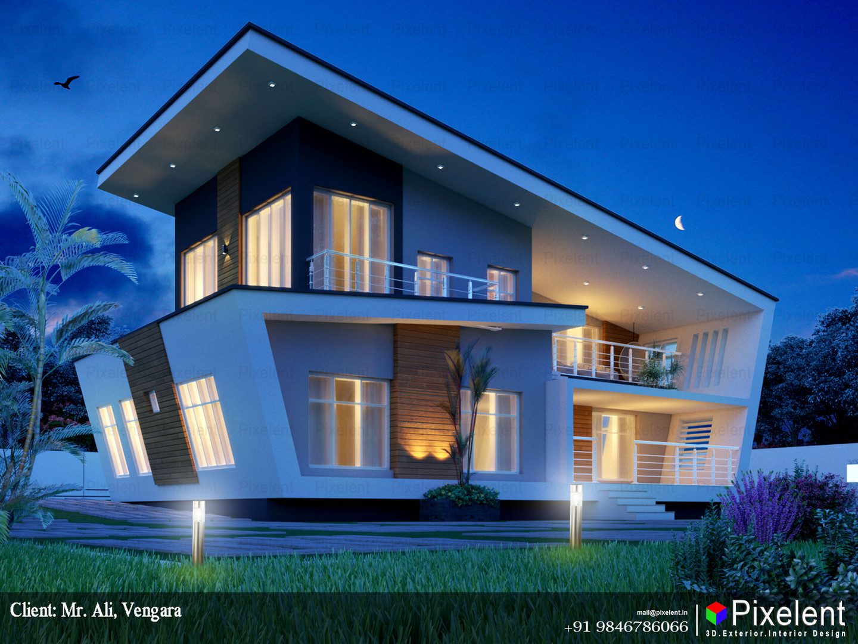 3D Exterior Elevation By Pixelent