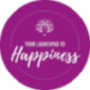 Your Launchpad to Happiness - Logo Purpl