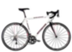 aluminum road bike with 11-speed shimano ultegra groupset