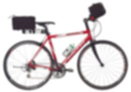 hybrid flat bar bike with low gears