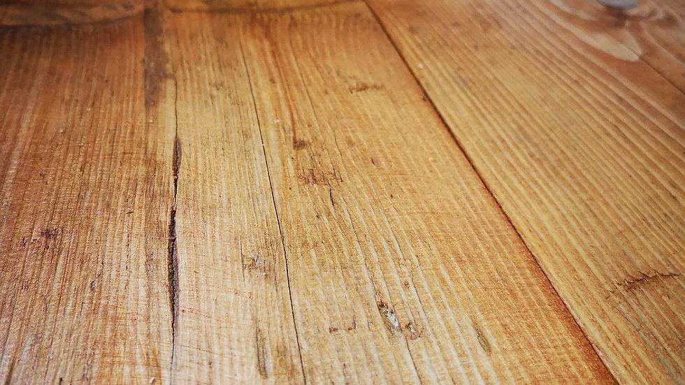 ANTIQUE PINE SCAFFOLD BOARD SHELVES 1M