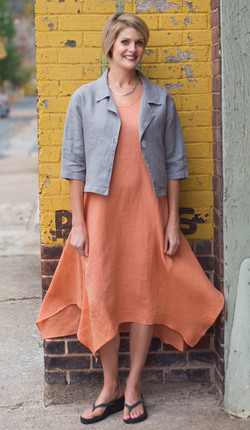 Crop Linen Jkt / Market Street Dress