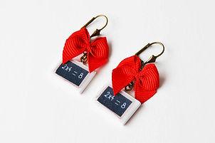 Boucles d'oreille ardoise vintage Maison DeBarge souvenirs d'enfance