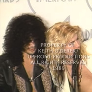 Whitney Houston, Slash & Duff of Guns N Roses (never before seen footage)
