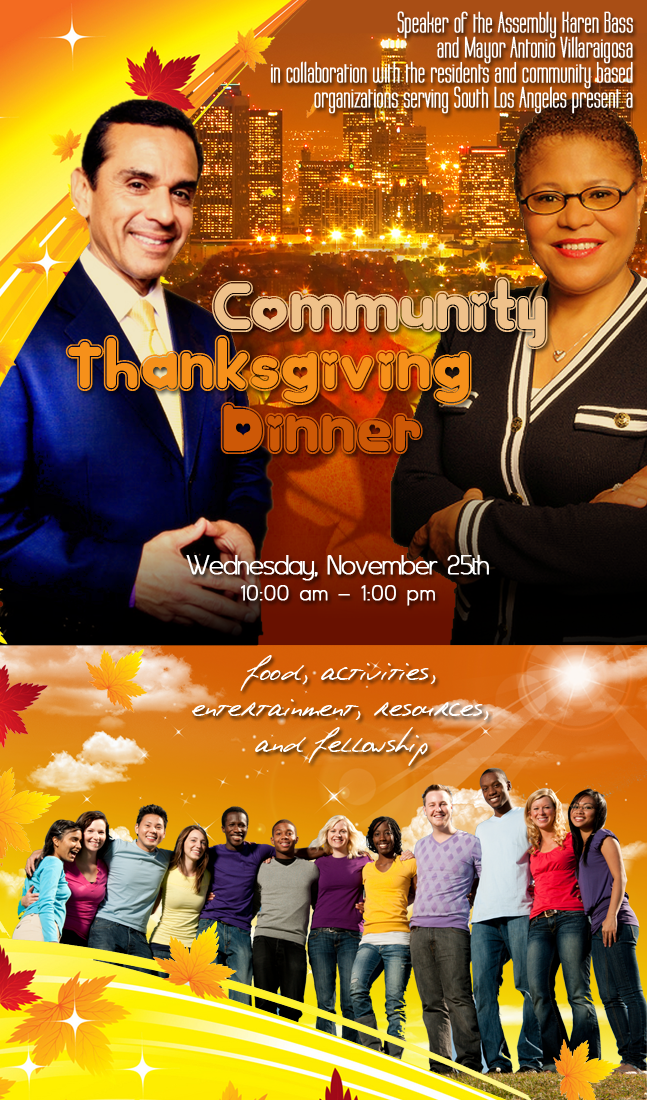 Community Thanksgiving Dinner Poster