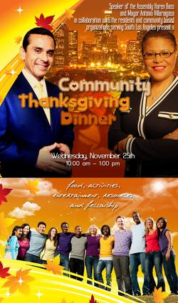 Community Thanksgiving Dinner Poster