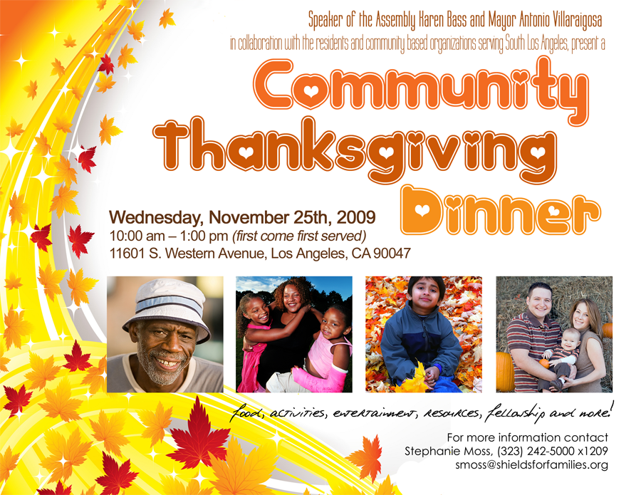 Community Thanksgiving Dinner Flier