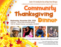 Community Thanksgiving Dinner Flier