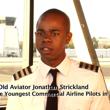 Young Commercial Airline Pilot Jonathan Strickland makes History by filmmaker Keith O'Derek