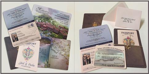 Passport Wedding Invitation Set