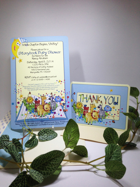 Baby Shower invitation and Thank You card Set