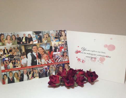 Thank You card photo collage