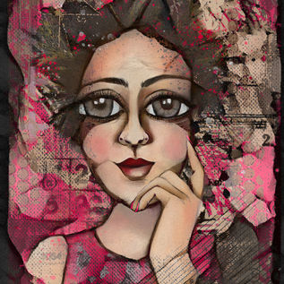 Contemplating pink