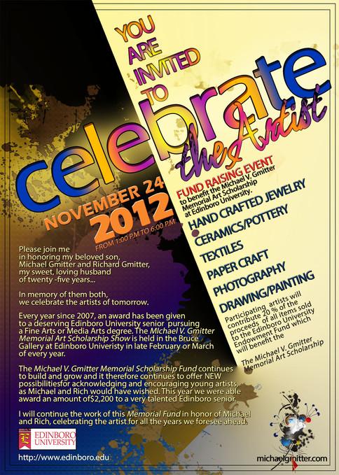 Celebrate the Artist Fundraising Invitation