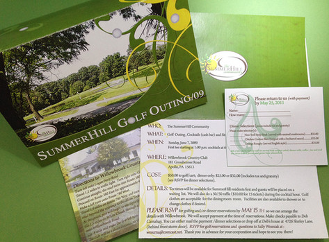 Golf Outing Invitation Set