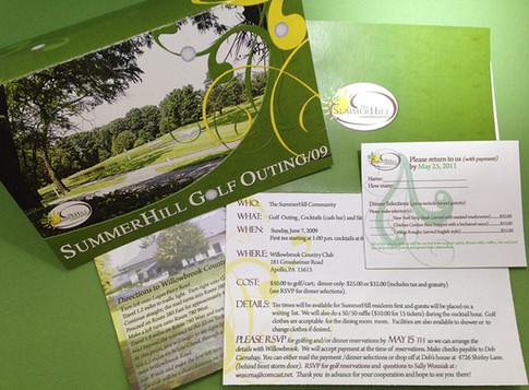 Golf Outing Invitation Set