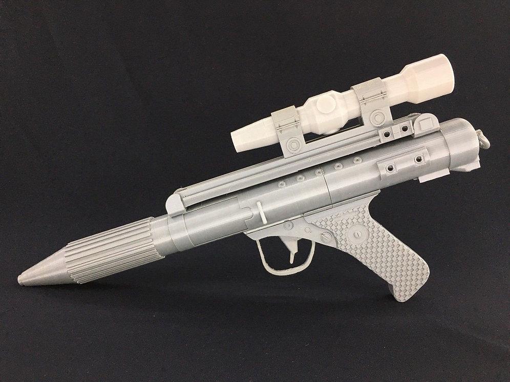 Star Wars DH-17 blaster Pistol Cosplay Prop 3D Printed