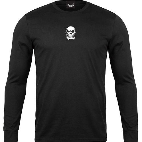 SP BLACK LONG SLEEVE WHITE SKULL