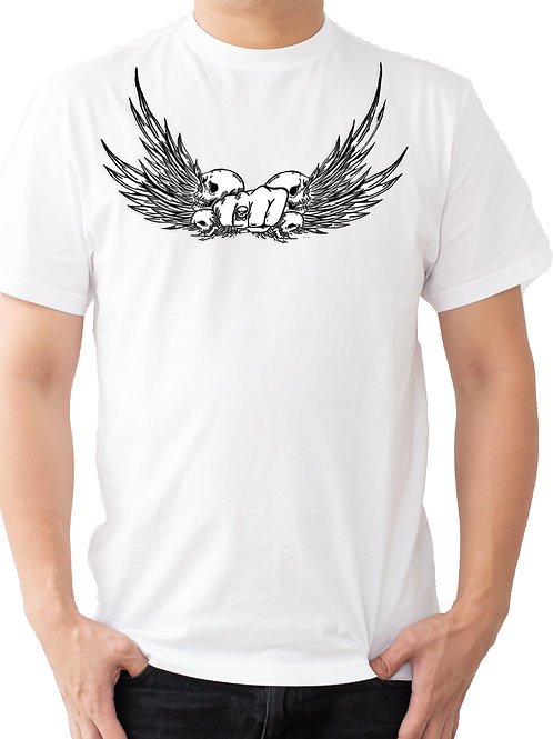 SP SKULL WING WHITE T SHIRT