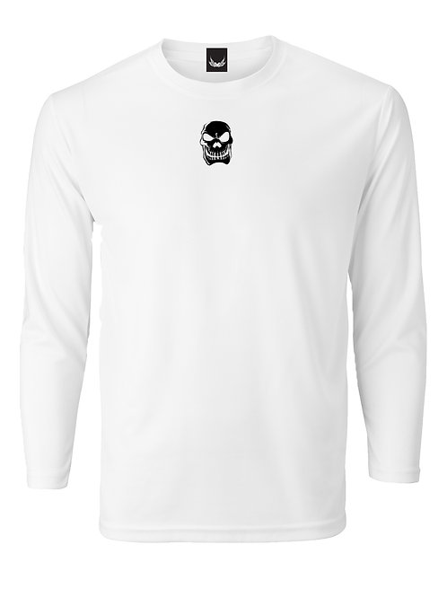 SP LONG SLEEVE WHITE BLACK SKULL