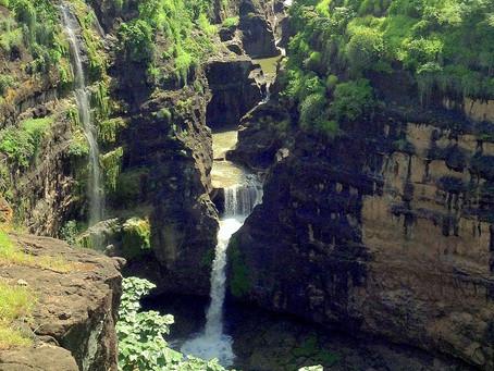 Saptakunda Waterfall ahead of Ajanta Caves