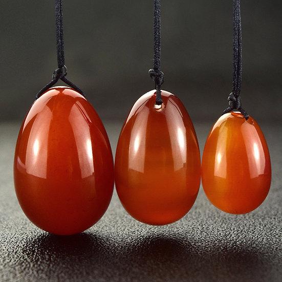 Carnelian Jade Egg Yoni Set