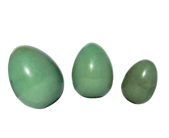 Green Adverturine Jade Yoni Egg Set