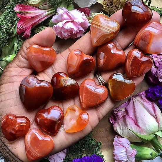 Carnelian Healing Hearts