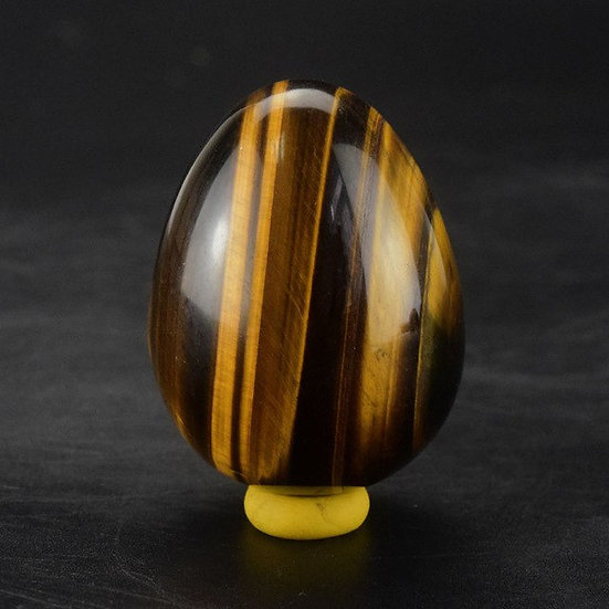 Tiger Eye Jade Yoni Egg