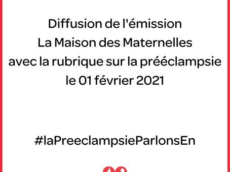 On parle de pré-éclampsie dans La Maison Des Maternelles sur France 4 !