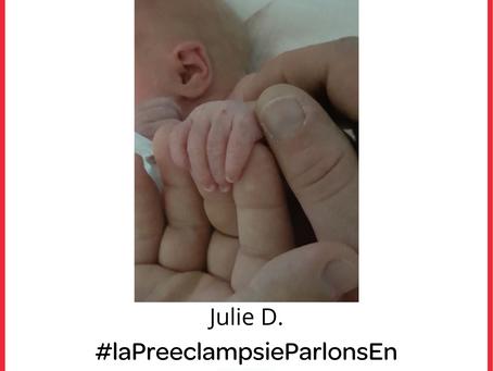 Témoignage sur la pré-éclampsie : manque de soutien psychologique (Julie D.)
