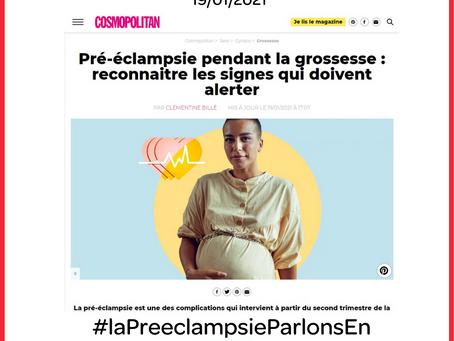 """Article Cosmopolitan :""""Pré-éclampsie pendant la grossesse : reconnaître les signes"""""""