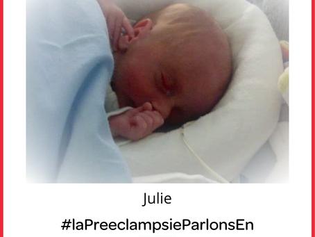 Témoignage sur la pré-éclampsie : HELLP syndrom et pronostic vital engagé (Julie)