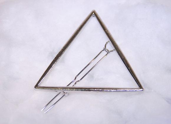 Pyramid silver Haarspange