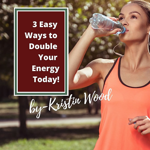 3 Ways to Double Your Energy Today - USE Promo Code: FREEBIE
